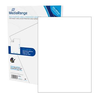Εικόνα της MediaRange Ετικέτες Γενικής Χρήσης 210x297mm Λευκές 50 Pack MRINK140