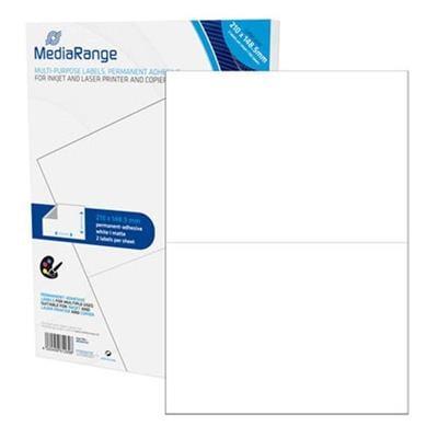Εικόνα της MediaRange Ετικέτες Γενικής Χρήσης 210x148.5mm Λευκές 100 Pack MRINK141