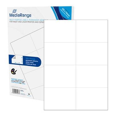 Εικόνα της MediaRange Ετικέτες Γενικής Χρήσης 105x74mm Λευκές 400 Pack MRINK145