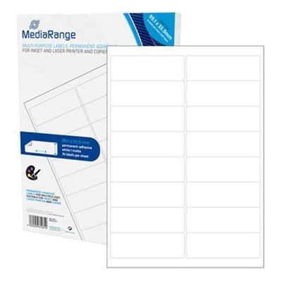 Εικόνα της MediaRange Ετικέτες Γενικής Χρήσης 99.1x33.9mm Λευκές 800 Pack MRINK147