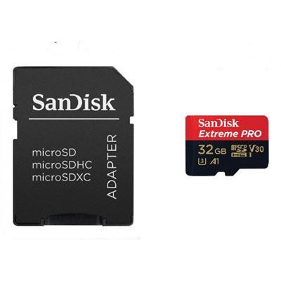 Εικόνα της Κάρτα Μνήμης MicroSDHC V30 UHS-I U3 Sandisk Extreme PRO 32GB + SD Adapter SDSQXCG-032G-GN6MA
