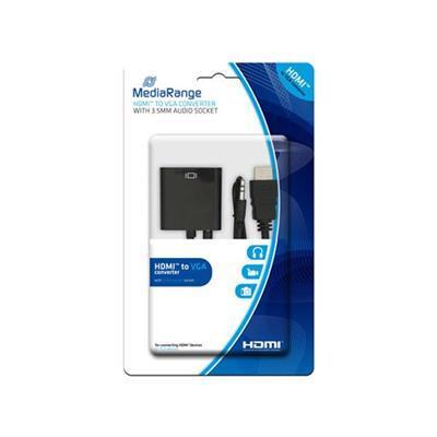 Εικόνα της Καλώδιο MediaRange HDMI/VGA Converter with 3.5mm Audio Socket Black MRCS167