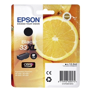 Εικόνα της Μελάνι Epson 33XL Black C13T33514010