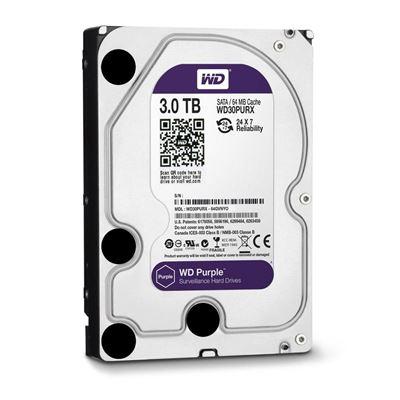 """Εικόνα της Εσωτερικός Σκληρός Δίσκος Western Digital Purple 3TB 3.5"""" Sata III Surveillance WD30PURZ"""