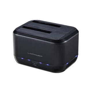 Εικόνα της Docking Station LC Power 2.5/3.5 SATA USB 3.0 Black LC-DOCK-U3-III