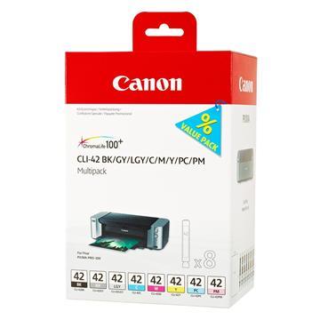 Εικόνα της Πακέτο 8 Μελανιών Canon CLI-42 BK,C,M,Y,PC,PM,GY,LGY 6384B010