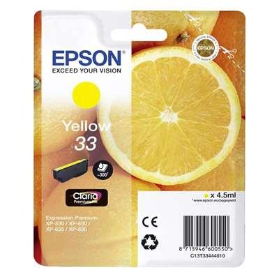 Εικόνα της Μελάνι Epson 33 Yellow C13T33444010