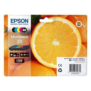 Εικόνα της Πακέτο 5 Μελανιών Epson 33 Black, Cyan, Magenta, Yellow, Photo Black C13T33374010