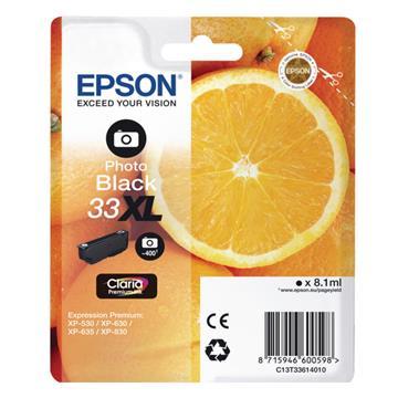 Εικόνα της Μελάνι Epson 33XL Photo Black C13T33614010
