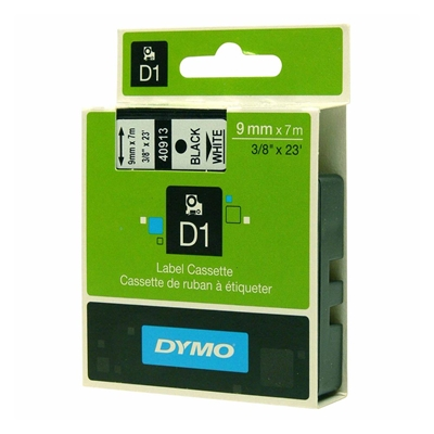 Εικόνα της Ετικέτες Dymo D1 Standard 9mm x 7m Black On White 40913 S0720680