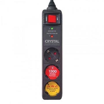Εικόνα της Πολύπριζο Ασφαλείας 3 Θέσεων Crystal Audio 1300J 70dB Black CP3-1300-70