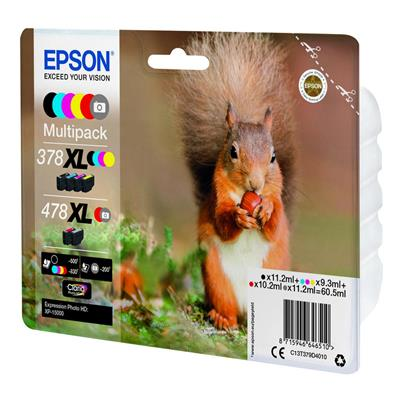 Εικόνα της Πακέτο 6 Μελανιών Epson 378XL+478XL Black, Cyan, Magenta, Yellow, Red & Gray C13T379D4010