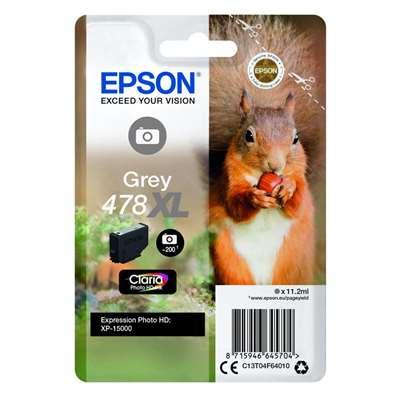Εικόνα της Μελάνι Epson 478XL Grey C13T04F64010