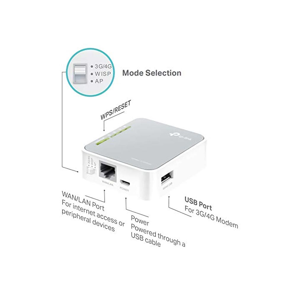 Portable Router Tp Link Tl Mr3020 V3 3g 4g Wireless N