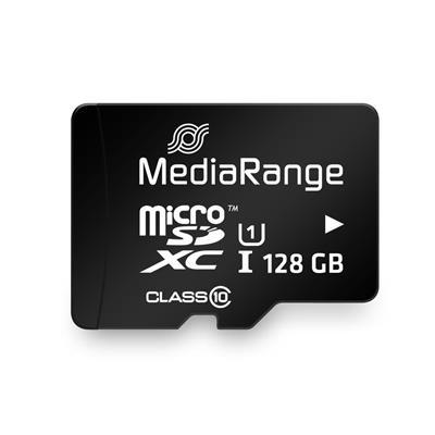 Εικόνα της Κάρτα Μνήμης MicroSDXC Class 10 UHS-1 MediaRange 128GB with SD Adapter MR945