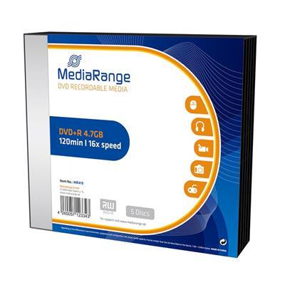 Εικόνα της DVD+R 4.7GB 120' 16x MediaRange Slimcase 5 Τεμ MR419