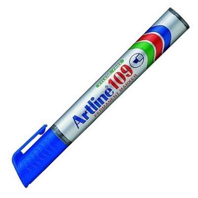 Εικόνα της Μαρκαδόρος Ανεξίτηλος Artline 109 Πλακέ Μύτη 2-5 mm Μπλε