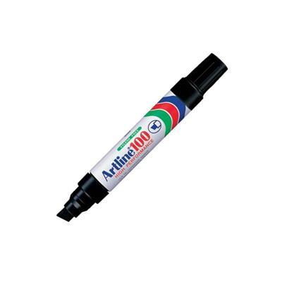 Εικόνα της Μαρκαδόρος Ανεξίτηλος Artline 100 Πλακέ Μύτη 7.5-12mm Μαύρο ART100BK