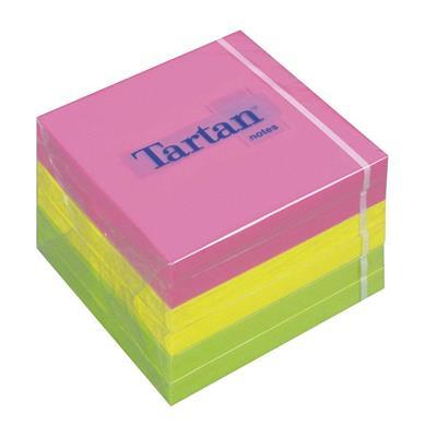 Εικόνα της Αυτοκόλλητα Χαρτάκια 3M Tartan Neon Φωσφοριζέ 76x76mm 400 Φύλλα MMM767678