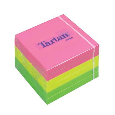 Εικόνα της Αυτοκόλλητα Χαρτάκια 3M Tartan 76 x 76 mm Neon Φωσφοριζέ MMM101077