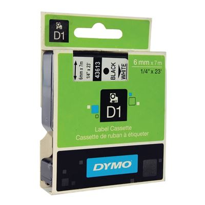 Εικόνα της Ετικέτες Dymo D1 Standard 6mm x 7m Black On White 43613 S0720780