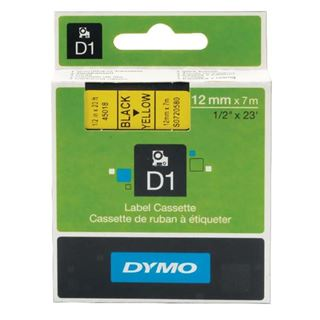 Εικόνα της Ετικέτες Dymo D1 Standard 12mm x 7m Black On Yellow 45018 S0720580