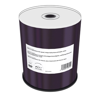 Εικόνα της DVD-R 4.7GB 120' Inkjet Fullsurface Printable 16x MediaRange Shrink 100 Τεμ MR413