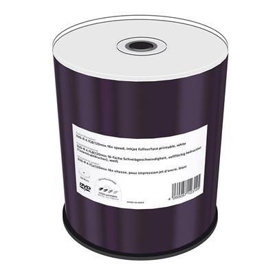 Εικόνα της DVD-R 4.7GB 120' Inkjet Fullsurface Printable 16x MediaRange Shrink 100 Τεμ MR413