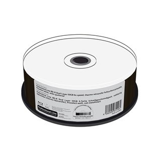 Εικόνα της BD-R Dual Layer 50GB 6x Thermo Retransfer Fullsurface Printable MediaRange Professional Line Cake Box 25 Τεμ MRPL404