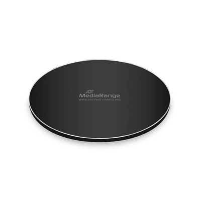 Εικόνα της MediaRange Wireless Fast Charge Pad for Smartphones Black MRMA111