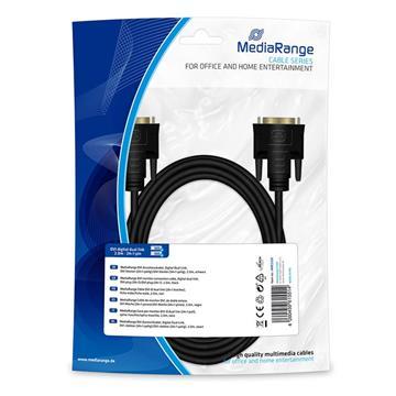 Εικόνα της Καλώδιο MediaRange DVI Monitor Connection, Digital Dual Link DVI plug (24+1)/DVI plug (24+1) 2m Black MRCS129
