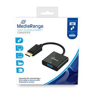 Εικόνα της Καλώδιο MediaRange SVGA to DisplayPort Converter, VGA socket/DP plug 15cm Black MRCS173