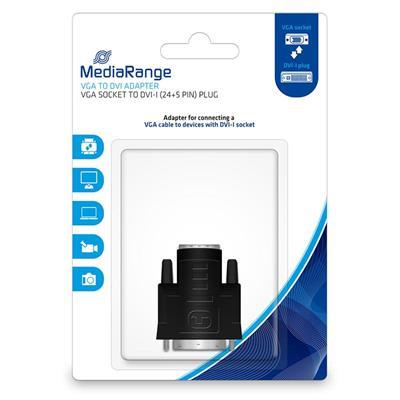Εικόνα της Adapter MediaRange VGA to DVI Gold-Plated, VGA socket/DVI-I plug (24+5 Pin) Βlack MRCS172