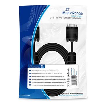 Εικόνα της Καλώδιο MediaRange SVGA Monitor VGA/VGA 3m Black MRCS114