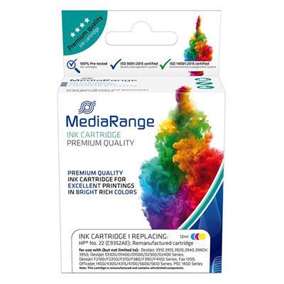 Εικόνα της Συμβατό Μελάνι Mediarange για Εκτυπωτές HP No 22 Colour C9352A MRHP22CMY