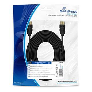 Εικόνα της Καλώδιο MediaRange HDMI High Speed with Ethernet, Gold-Plated, 10.2 Gbit/s data transfer rate, 10m, Black MRCS212