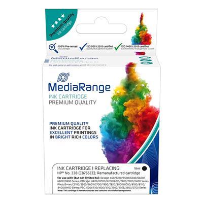 Εικόνα της Συμβατό Μελάνι Mediarange για Εκτυπωτές HP No 338 Black C8765EE MRHP338BK