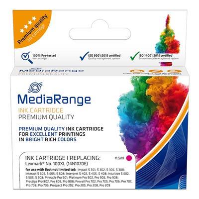 Εικόνα της Συμβατό Μελάνι Mediarange για Εκτυπωτές Lexmark 100XL 14N1070E Magenta MRLX100MXL