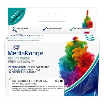 Εικόνα της Συμβατό Μελάνι Mediarange για Εκτυπωτές HP No 920XL Black CD975AE MRHP920BKXL