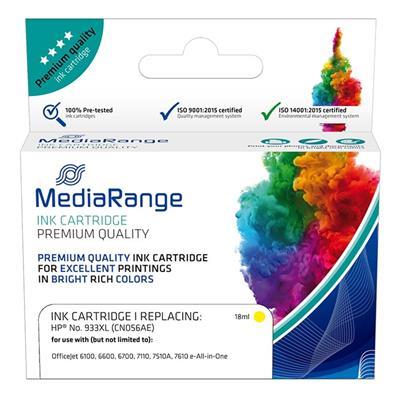 Εικόνα της Συμβατό Μελάνι Mediarange για Εκτυπωτές HP No 933XL Yellow CN056AE MRHP933YXL