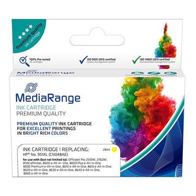 Εικόνα της Συμβατό Μελάνι Mediarange για Εκτυπωτές HP No 951XL Yellow CN048AE MRHP951YXL