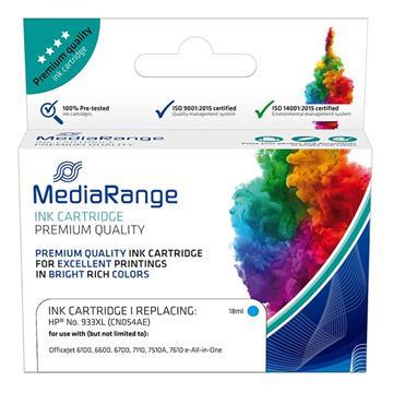 Εικόνα της Συμβατό Μελάνι Mediarange για Εκτυπωτές HP No 933XL Cyan CN054AE MRHP933CXL