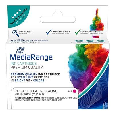 Εικόνα της Συμβατό Μελάνι Mediarange για Εκτυπωτές HP No 935XL Magenta C2P25AE MRHP935MXL