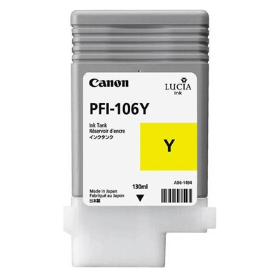 Εικόνα της Μελάνι Canon PFI-106Y Yellow 6624B001