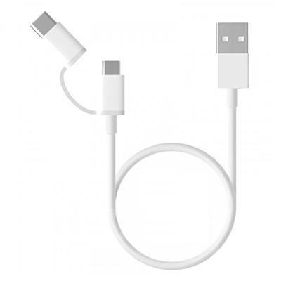Εικόνα της Καλώδιο Xiaomi USB to Type-C/ microUSB 0.3m White SJV4083TY