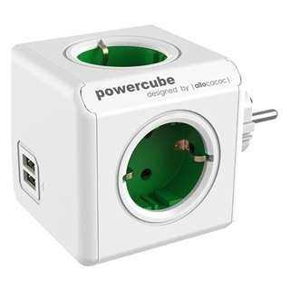 Εικόνα της PowerCube Allocacoc USB Original Green 1202GN/DEOUPC
