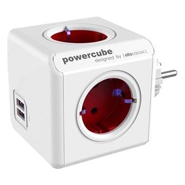 Εικόνα της PowerCube Allocacoc USB Original Red 1202RD/DEOUPC