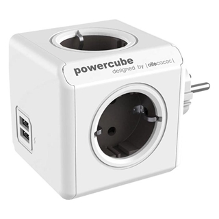 Εικόνα της PowerCube Allocacoc USB Original Grey 1202GY/DEOUPC
