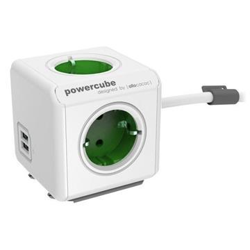 Εικόνα της PowerCube Allocacoc Original Extended Green 1.5m USB 1406GN/DEEUPC