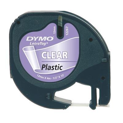 Εικόνα της Πλαστικές Ετικέτες Dymo Letratag Clear 12mm x 4m 12267 S0721530